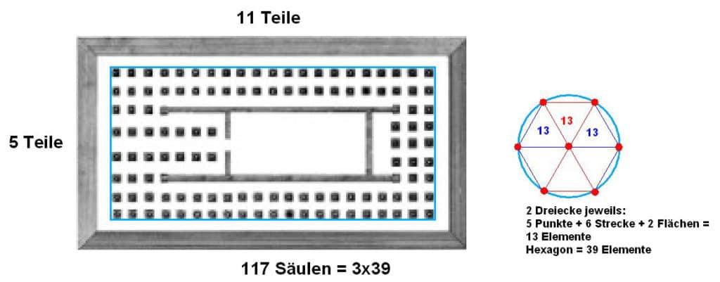Grundriss Rekonstruktion 2. Tempel