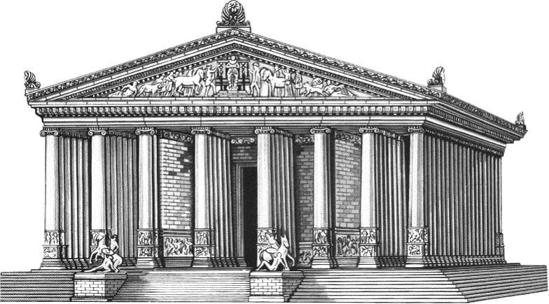 Rekonstruktion 1. Artemis Tempel