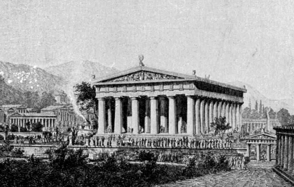 Rekonstrukt. Zeustempel Lübke 1908